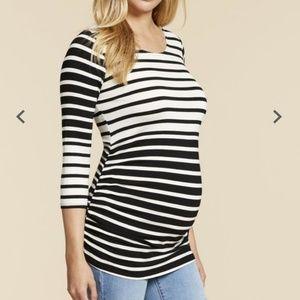 Jessica Simpson Striped Maternity Shirt